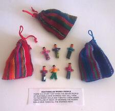 3 Pouches of 6 Fair Trade Guatamalan Worry Dolls.