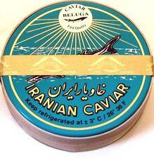 30g original echter Beluga Caviar (Huso huso) Kaviar +1 Perlmutt-Löffel