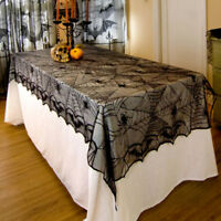 Halloween Lace Black Spider Web Home Bar Party Tablecloth Table Cover Decor US