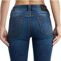 True Religion Women's X Manchester United Jennie Curvy Skinny Fit Stretch Jeans