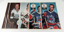 Lot of (5) 1973-74 OPC O-Pee-Chee WHA Hockey Posters