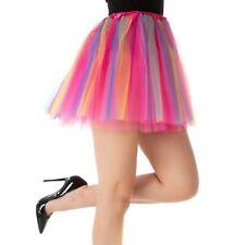 Rainbow Dance Luxury Pixie Tutu Petticoat Pink Ladies Halloween Fancy Dress UK