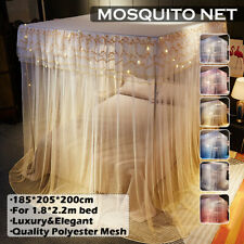 4 Corner Mosquito Net Luxury Gradation Color Bed Canopy Lace Princess Netting