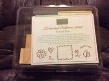 Stampin Up! 2001 Limited Edition Framed Fun Unmounted Rubber Stamp Set of 7 NEW