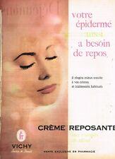 H- Publicité Advertising 1961 Cosmétique Crème Vichy