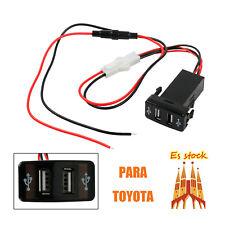 Cargador de Coche USB de Doble Puerto USB de Carga para móviles para Toyota