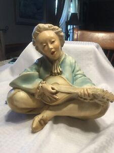 Universal Statuary Large French Provential Figural Colonial Male Statue 1975