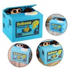 New Piggy Bank Steal Money Coin Saving Box Pot Storage Xmas Kids Gift Uk