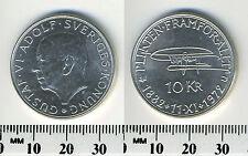 Sweden 1972 - 10 Kronor Silver Coin - 90th Birthday of King Gustaf VI Adolf