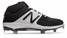 New Balance Mid-Cut 3000V3 Metal Baseball Cleat Adult Shoes Black With White