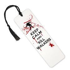 Keep Calm And Kill Walkers, The Walking Dead - Aluminium Metal Bookmark