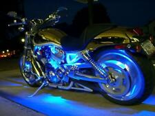Blue 4pc LED Kit Engine Fairing Body Kit Lights Glow Accent Lighting Motorcycles