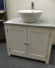 Granite Top, Painted Vanity Unit 1000mm  Wide bathroom Washstand  Cabinet