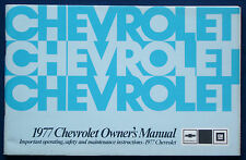 Owner's Manual * Betriebsanleitung 1977 Chevrolet Chevy Caprice Impala (USA)