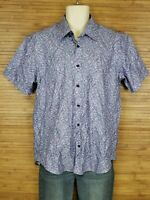 WIL STILES Limited Edition Purple Psychedelic Button Front Shirt Men's Size XL