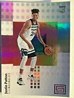 Justin Patton, Timberwolves, 2018 Panini Status, #104, ROOKIE CARD RC, + LOT
