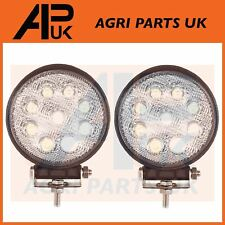 Pair 27W LED work Light Lamp 12V Flood Beam 24V Round Trailer Offroad 4X4 SUV 4W