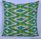 """Ethnic Cotton 16"""" Paisley Floral Indian Kantha Cushion Cover Boho Pillow Case"""