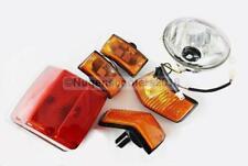 Vespa Px Lml Head Light & Tail Light And 4 Blinker Orange Set