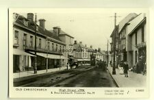pp1277 - Old Christchurch - High Street & Bournemouth Tramcar - Pamlin postcard
