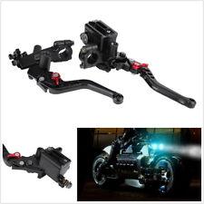 "2X 7/8""Black Motorcycle ATV CNC Brake Master Cylinder Reservoir Levers Universal"