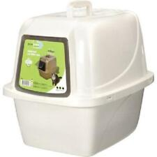 New listing Large Cat Litter Box Plastic Stain & Odor-Resistant Home Pet Hooded Enclosed Pan