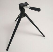 Camera Table Tripod Mini Small Black and Silver Metal w/ Plastic Handle