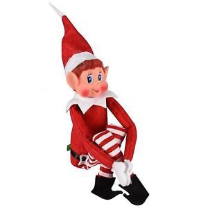 """ELVES BEHAVING BADLY 12"""" RED XMAS SHELF ELF NAUGHTY LITTLE BOY ELFIE CHRISTMAS"""