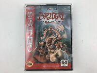 Brutal Paws Of Fury Sega Genesis Game Tested Works