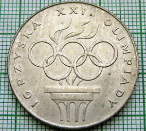 POLAND 1976 200 ZLOTYCH, MONTREAL SUMMER OLYMPICS, SILVER UNC
