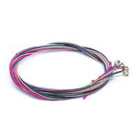 Conjunto de color arco iris colorido de cuerda para guitarra acustica O8S7