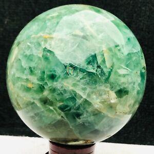 5650G Natural fluorite sphere quartz crystal ball Y243