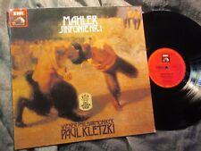 MAHLER SYMPHONY No.1 - PAUL KLETZKI - Vienna Phil. HMV STEREO Germany LP MINT-,