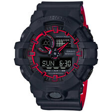 -NEW- Casio G-Shock Black Watch with Red Accents GA700SE-1A4