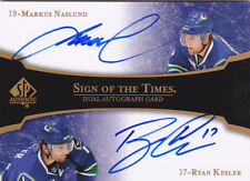 07-08 SP Authentic Markus Naslund Ryan Kesler Auto Sign Of The TImes Dual 2007