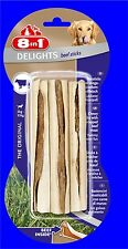 8in1 Beef Delights Chewing Sticks 1x3 Piece With Beef, the Kausnack for Dogs