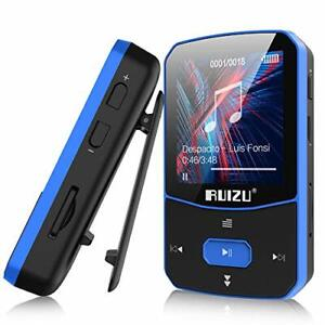 MP3 Player Clip Players with Bluetooth 5.0 Portable 8 GB Blue Mini HiFi Lossless