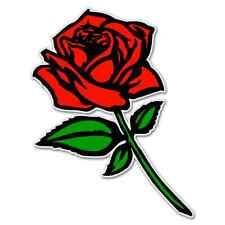 """Red Rose car bumper sticker window decal 5"""" x 3"""""""