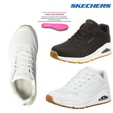 Skechers Womens Uno Stand On Air Bubble Memory Foam Trainers Lace Up Sneakers