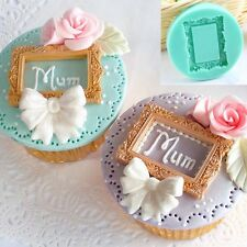 3d Silicone Vintage Mirror Frame Mould Fondant Cake Sugarcraft Baking Decor Mold