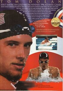 Tom Dolan--Olympic Swimmer--1996 Wheaties Cereal Box Back Panel