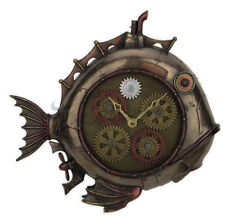 """12"""" Steampunk Deep Sea Dweller Wall Clock w/ Gears That Move Gothic Decor"""