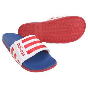 Adidas Adilette Comfort ADJ Slides Sandals Slipper Red/Blue/White EG1346