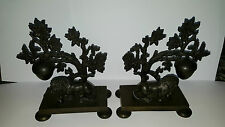 Antique 19th Century Pair of Bronze Lion Pastille Burners - Circa 1840