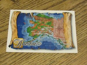 Map of Alaska Postcard (HWBS)