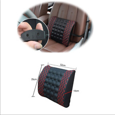 Electric Massage Lumbar Cushion Pillow Car Seat Back Waist Support New Black Red