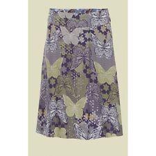 Ladies Ex White Stuff Butterfly Bird Floral Print Reversible Summer Skirt [39]