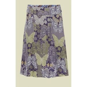 Ladies Ex White Stuff Butterfly Bird Floral Print Reversible Summer Skirt [39]