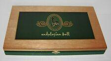 LFD andalusion bull  Wooden Cigar Box Empty La Flor Dominica