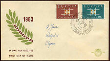 Netherlands 1963 Europa FDC First Day Cover #C27136